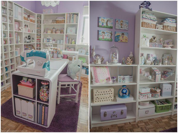 Working Desk Front & Pretty Shelves