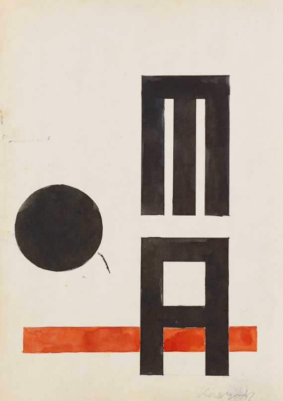 Lajos Kassák - Abstrakte Komposition (MA)