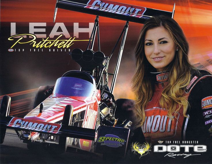 "( HOT ROD 2014 & 2015 ★ LEAH PRITCHETT ""Leah Pritchett Top Fuel 2015 NHRA Drag Racing Handout hero card postcard."" ) ★ Leah Pritchett - Thursday, May 26, 1988 - Redland, California, USA."