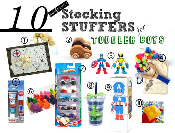 10 Stocking Stuffers for Toddler Boys! Non-Candy Stocking Stuffers for Boys from TheHappeningHousewife.com #stockingstuffers #toddlerboy #giftguide