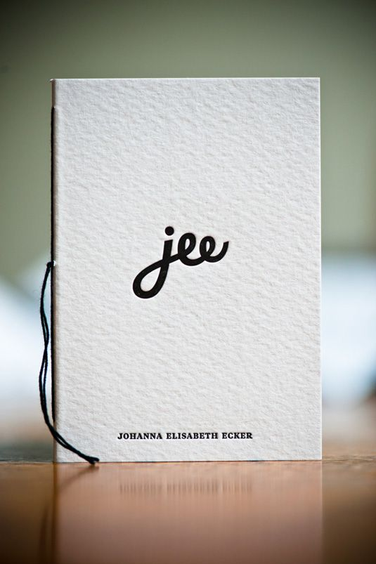 Brandconsultant Johanna Elisabeth Ecker wanted a business card that reflected both her personality and quality of her work.  So, working alongside designer Kurt Glanzer at Moodley Brand Identity, she developed these beautiful letterpress business cards, which doubles as a tiny notebook, which include a personal handwritten message for the receiver and 15 more empty pages for them to use as they wish.