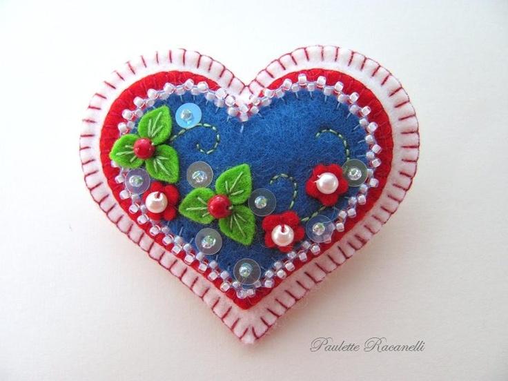 Etsy Transaction - Felt Heart Pin / Reserved for Lance79