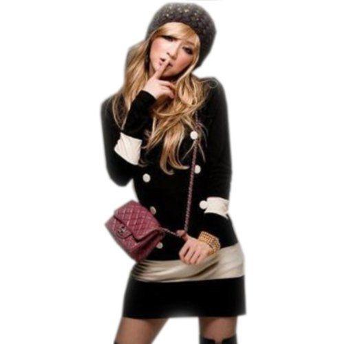 Amazon.co.jp: バイカラー ドルマンスリーブ トップス チュニック ドルマン ブラウス レディース カットソー 長袖 【大きいサイズ対応】M L XL 2L XXL 3L...: 服&ファッション小物