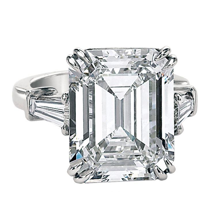 An Important 10.02ct Emerald Cut Diamond GIA Cert Ring