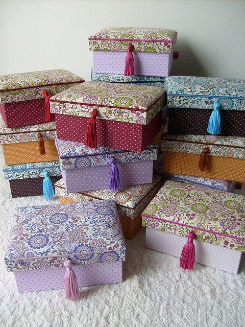 cajas forradas con tela