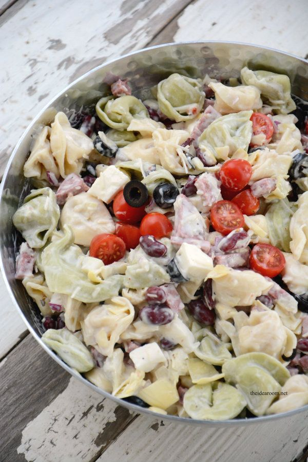 Cold Tortellini Salad Recipe - just made this (leaving out the kidney beans) and it was VERY good!  Kids loved it, too!  The flavors all blend together very well, and the taste is very good.  Easy to make, too!