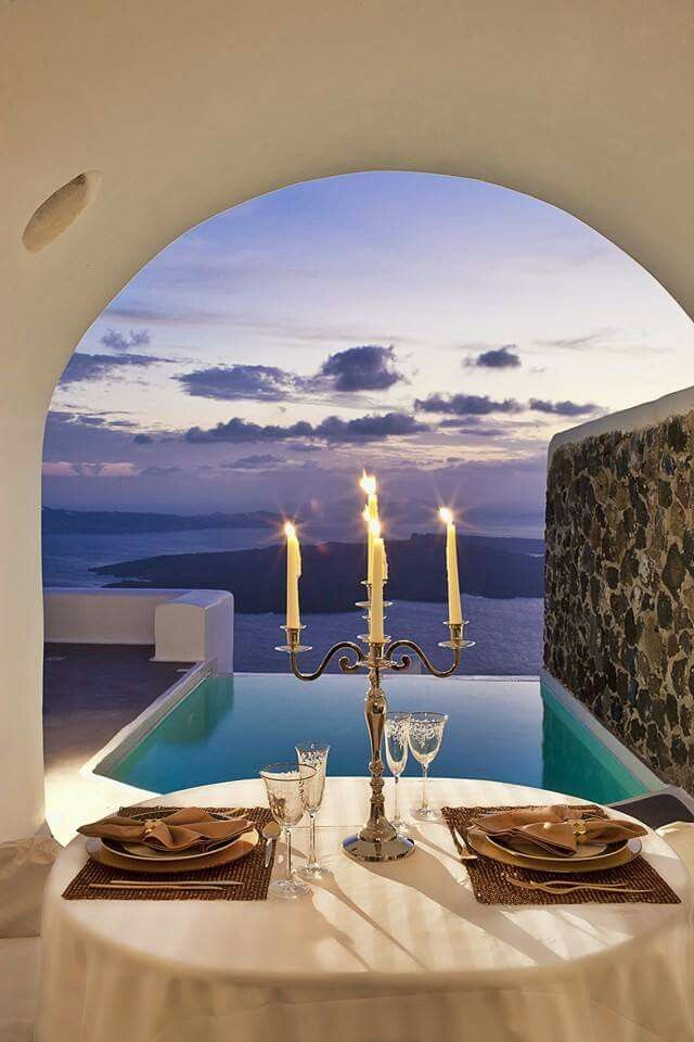 Look your other half in the eyes, enjoy the privilege to be in #Santorini and leave the tastes on us... (See more at http://www.gastronomysantorini.com and http://www.candlelightdinnersantorini.com)
