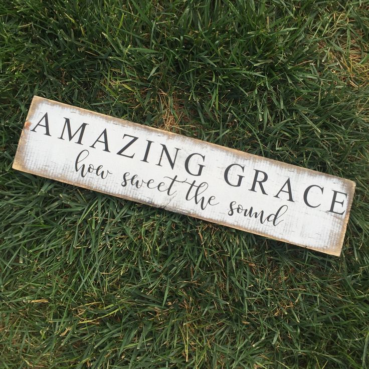 "Amazing Grace How Sweet The Sound | rustic wood sign | shelf décor | farmhouse sign | 5.5x24"" by MyCraftShed on Etsy"