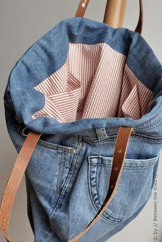 Repurposing an old pair of jeans :: a DIY