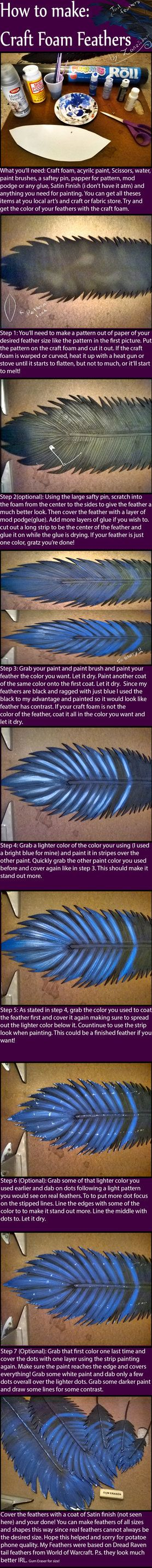 Craft Foam Feather Tutorial by Zanziabar on deviantART