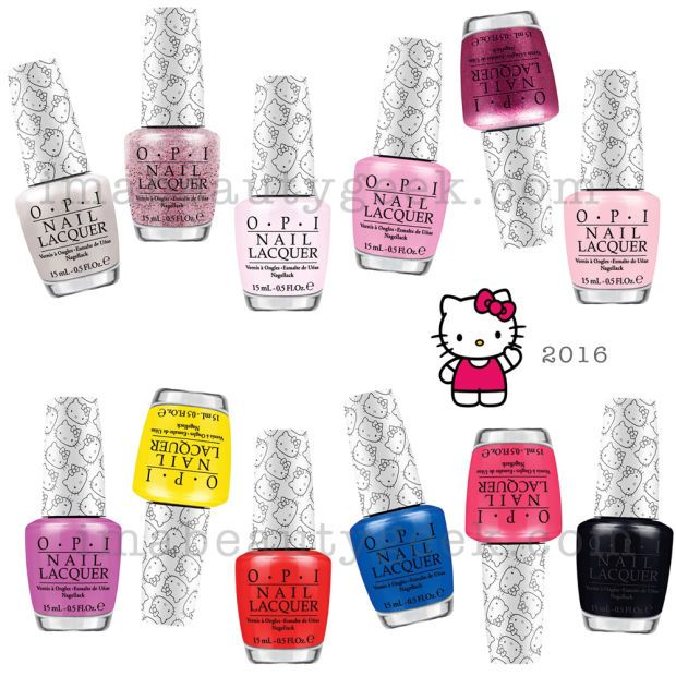 OPI Hello Kitty Collection 2016