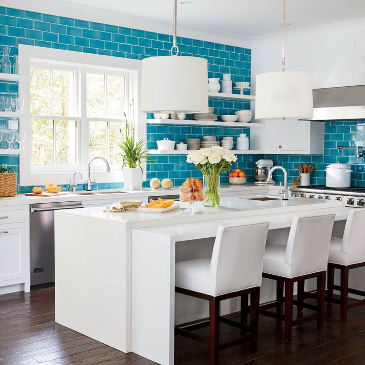 25 best ideas about blue subway tile on pinterest blue for Kitchen ideas magazine