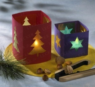 Lovely idea for Christmas candle holders