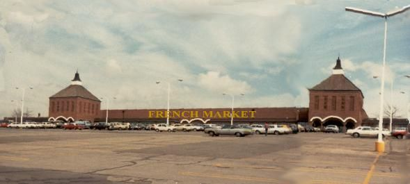 The French Market on 95th and Metcalf in Overland Park KS had a side yard of carnival rides on the north side of the bldg.