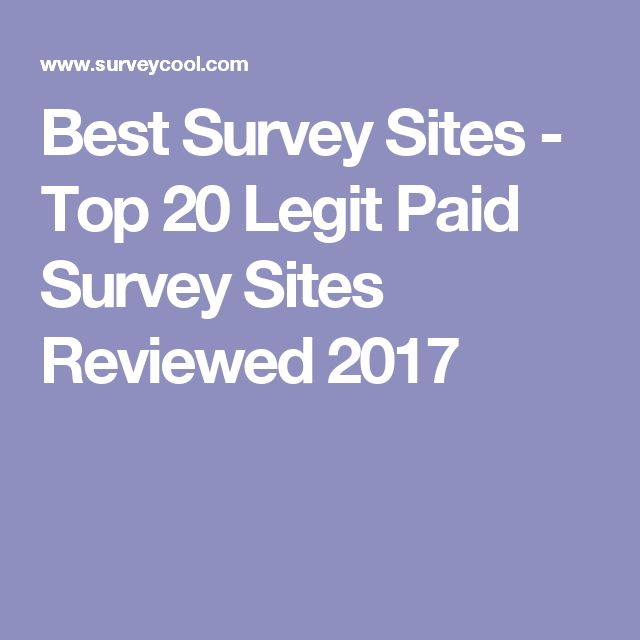 Best Survey Sites - Top 20 Legit Paid Survey Sites Reviewed 2017