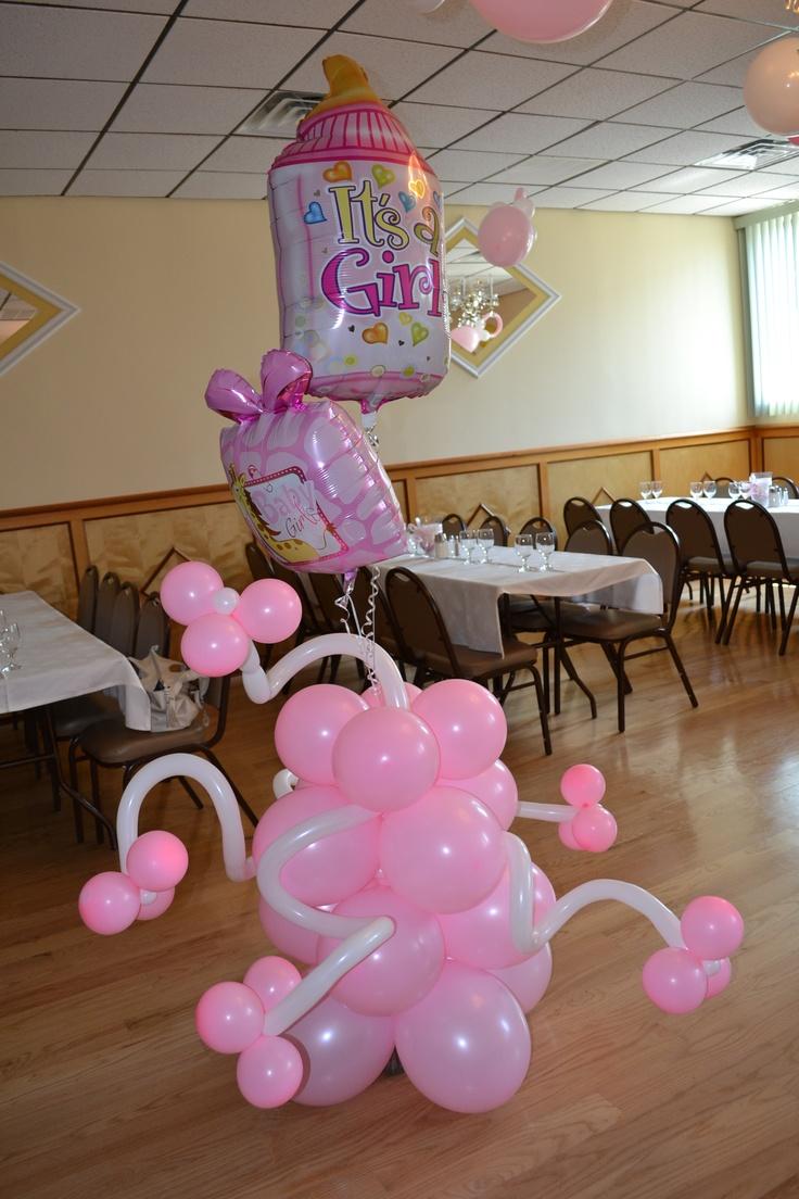Twin girls baby shower. Balloon DecorationsBaby ...