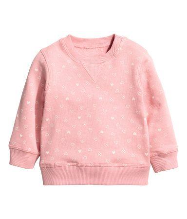 Sweatshirt   Rosa/Hjerter   Barn   H&M NO