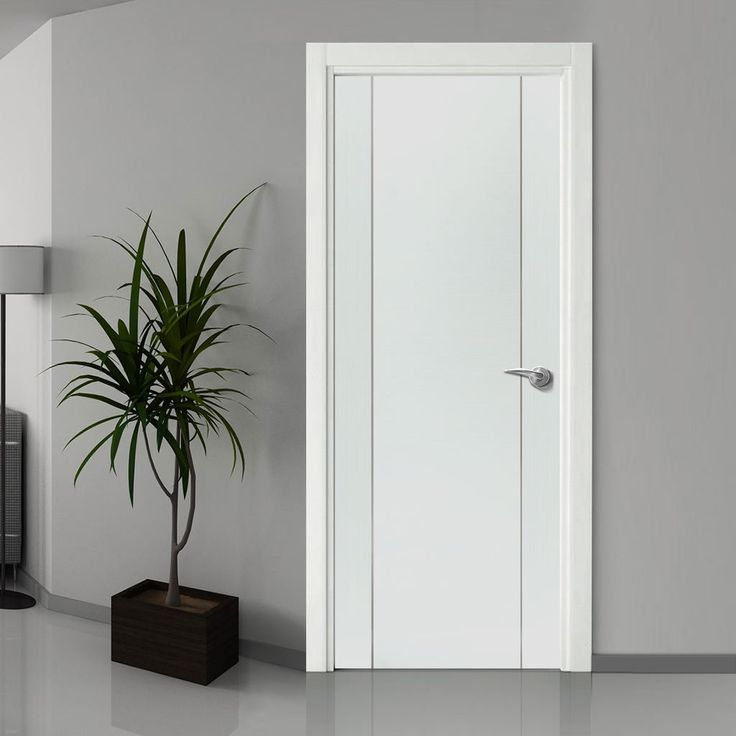 Bespoke Forli White Flush Fire Door with Aluminium Inlay - 1/2 Hour Fire Rated - Prefinished - Lifestyle Image.   #internalbespokedoor #bespokedoor #madetosizedoor