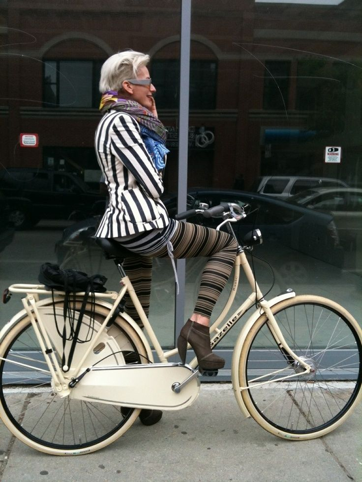 "6 Stylish Older Women Who Bike and they are fabulous. ""Aren't they just!"" MAKETRAX.net - Bicycle STYLE RIDERS"