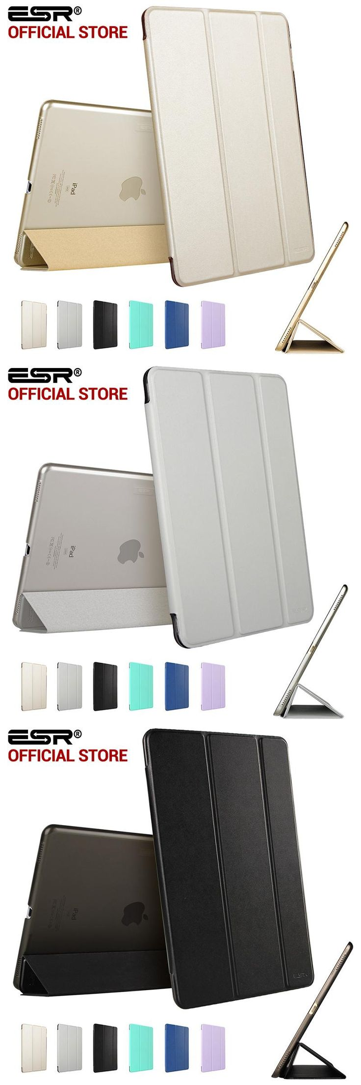 [Visit to Buy] Case for iPad Pro 12.9 inch, ESR PU Leather Tri-fold Stand Smart Cover Case with Translucent Back for iPad Pro 12.9 2015 Release #Advertisement