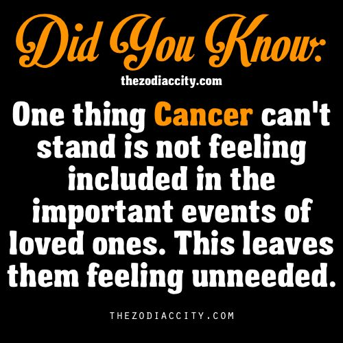 Did You Know? Zodiac Facts: Cancer