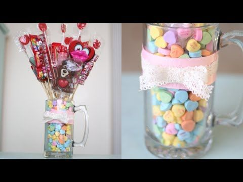 Valentines Candy Bouquet! - YouTube