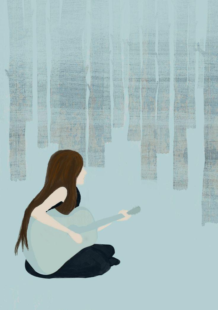 Blue Girl, Illustration
