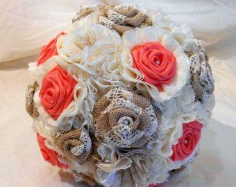 Bouquet di nozze alternativa della tela da imballaggio di woodlack