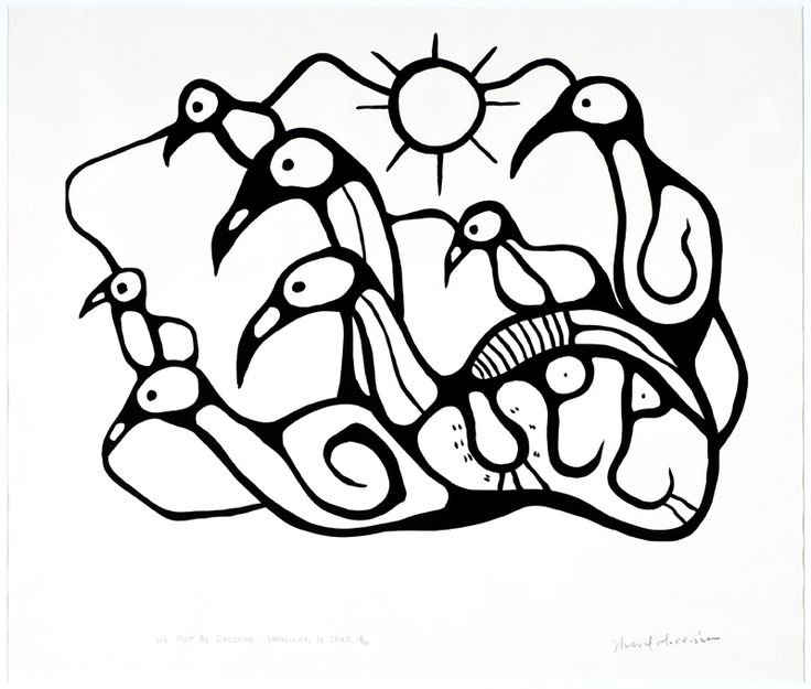 """Norval Morrisseau (Canadian/ Ojibway, 1932-2007) - """"We must be child-like"""", Simplicity of Spirit 