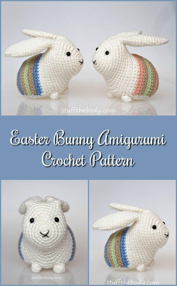 Easter Bunny Amigurumi Pattern Easter Crochet Pattern Rabbit