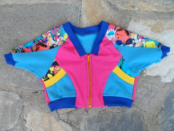 Preschool cotton jacket.Motifs of circus animals for 1 and 2years old baby by BabyGrowsMum