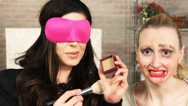 Party ideas: blind folded makeover challenge