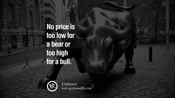 No price is too low for a bear or too high for a bull. – Unknown 20 Inspiring Stock Market Investment Quotes by Successful Investors