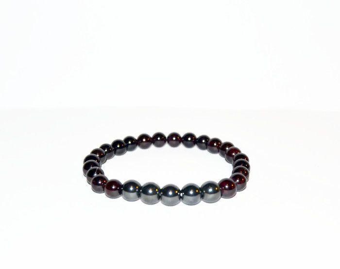 Wine Garnet Mens and Womens Bracelet, Red Garnet beaded bracelet, unisex jewelry #Beaded