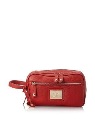 56% OFF Rowallan of Scotland Women's Abbey Leather Toiletry Bag, Scarlett, One Size