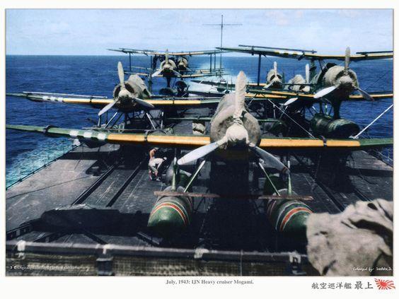 IJN Heavy Cruiser-Carrier Mogami with Aircraft Planes on deck! 大日本帝国海軍航空重巡洋艦-最上 (google.image) 10.17 New