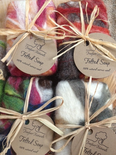 Felted Soap  All Natural handmade soap all by TreefortNaturals, $8.50