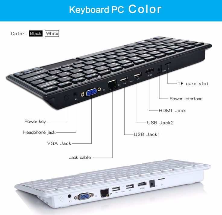 Portable All in one PC E-keyboard (Windows 10 OS)