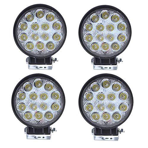 Ilike 4pcs 42w Led Driving Light 4 Inch Round Off Road Lights Spot Beam Square Fog Lamp 24v Pods Light Bar For Truc Led Driving Lights Light Bar Truck Jeep Suv