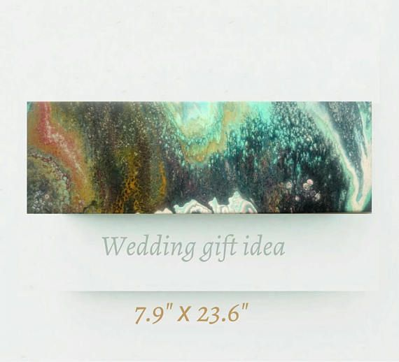 Abstract original painting great wedding gift arrives gift wrapped.
