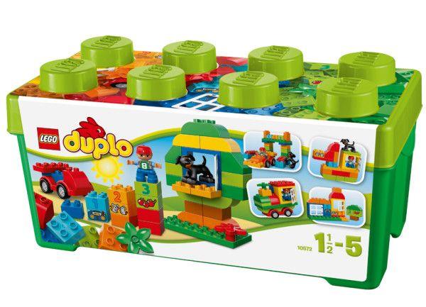 CUTIE COMPLETA PENTRU DISTRACTIE (10572)  Setul cutiei distractive LEGO® DUPLO® include o multime de caramizi DUPLO pentru constructie si reconstructie distractiva, pentru o joaca creativa.