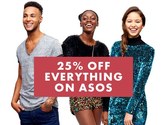 Enjoy a 25 per cent discount on all items on Asos with this 24 hour-only discount code on December 12, available for deliveries to Singapore, Hong Kong and Taiwan.