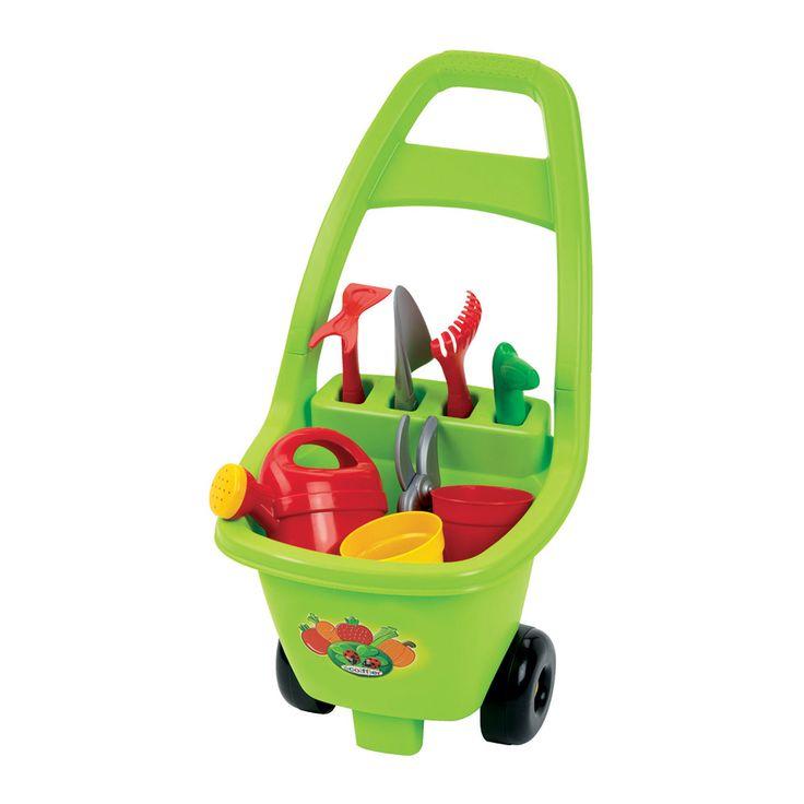 Het Franse merk Ecoiffier heeft een breed assortiment speelgoed voor in de keuken, tuin, huishouden en voor op het strand! Kinderen kunnen met het speelgoed van Ecoiffier spelenderwijs kennismaken met het dagelijks leven. Afmeting:26 x 33 x 50,5 cm - Ecoiffier Trolley met Tuingereedschap