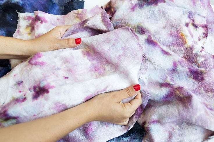 Today on The Fold: Learn how to Ice Dye fabric with us!
