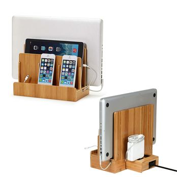 Smart Charging Station with PowerSquare™ USB/AC Power Strip. A nice spin on our traditional GUS bamboo charging station.