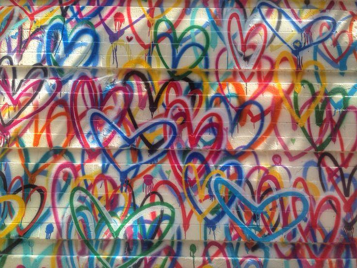 #Love is the answer. #hearts #graffiti #streetart #nycstreetart ❤️