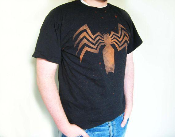 Venom Symbol / Spider man t-shirt men's L by Ragnarokkr on Etsy