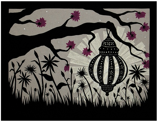 """This is Angie Pickman's """"Find Light Wherever You Are."""" She does amazing cut-paper art. Google """"Rural Pearl."""""""