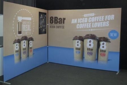 Fabric SuperWalls creating a perfect back drop for any exhibition or roadshow.