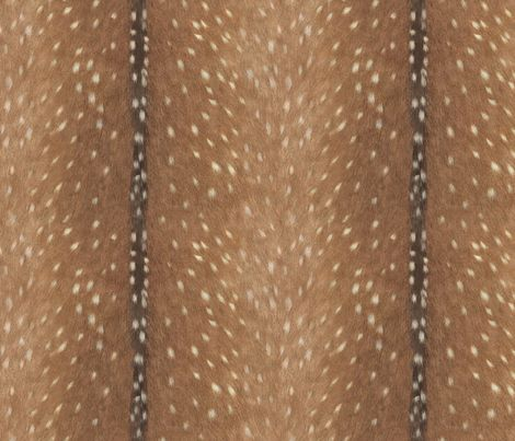 Deer Hide Fabric and Wallpaper by willowlanetextiles: